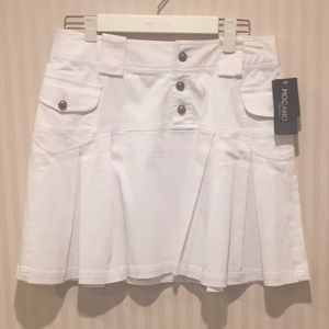 White jean summer mini skirt